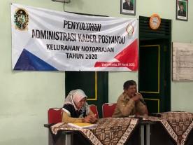 Pelatihan Aministrasi Kader Posyandu Kelurahan Notoprajan Tahun 2020 tanggal 09 Maret 2020