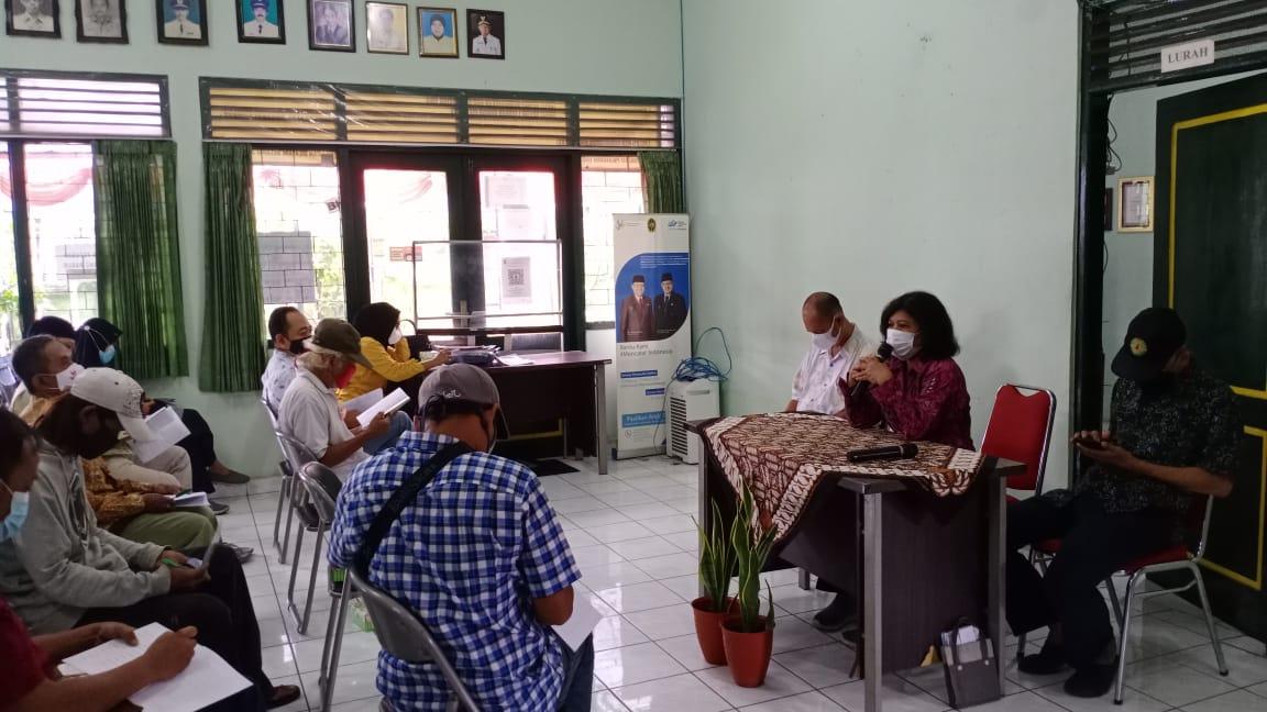 Pengisian Rapor Keluarga Tahun 2021 Di Kelurahan Notoprajan